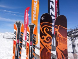 Ski test in Maso Corto