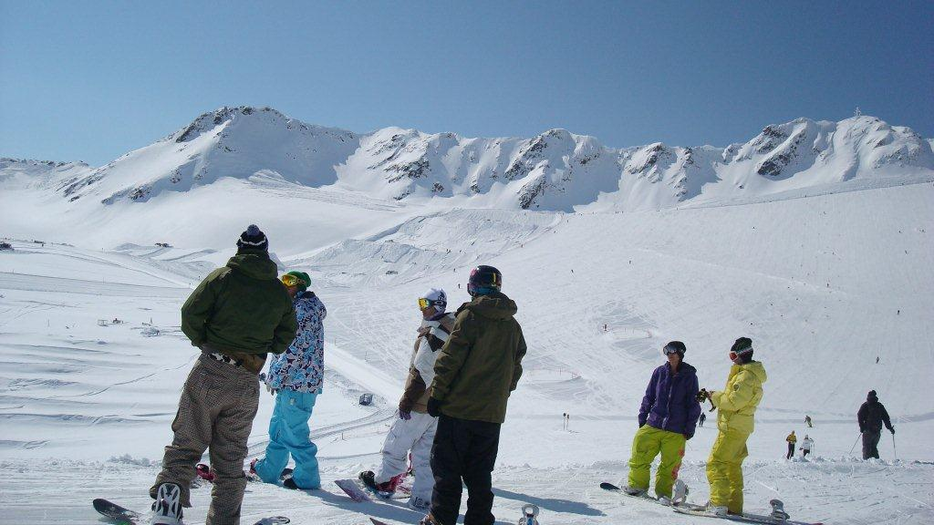 Skiing area in Senales Valley